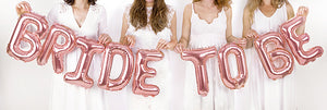 Bride to Be Foil Letter Balloons