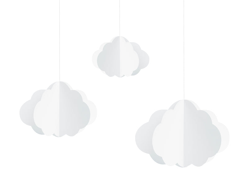 Set of hanging clouds