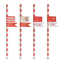 PREPPY FLAMINGO PAPER STRAWS