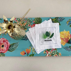 Set of Tropical Bermuda Cocktail Napkins