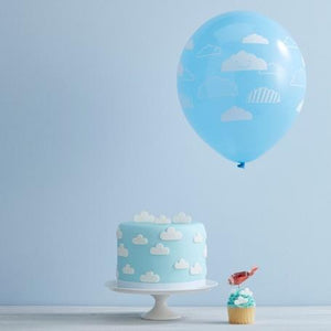 Blue Cloud Party Balloons (pack of 10)