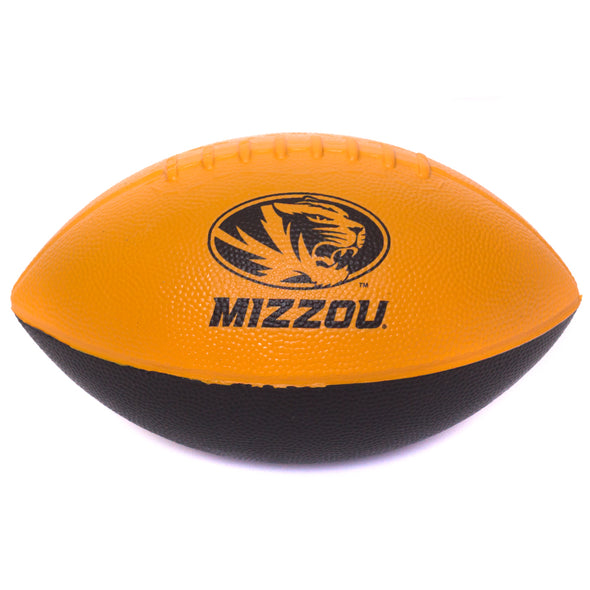 "Mizzou Tiger Head Black & Gold 9"" Nerf Football"