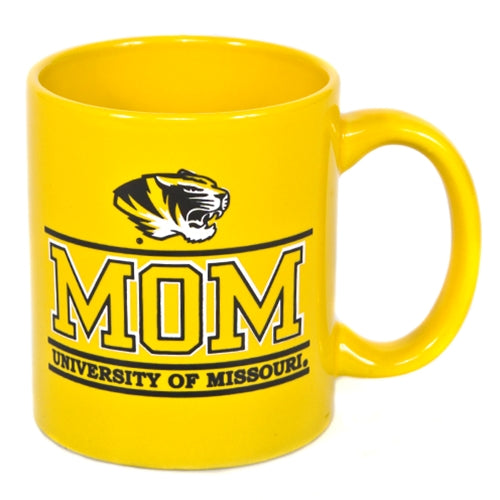 University of Missouri Mom Gold Ceramic Mug