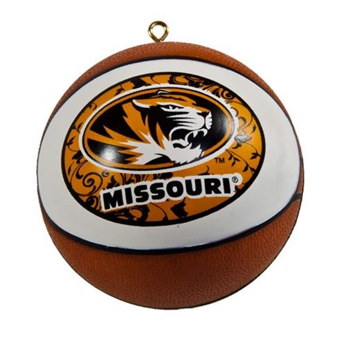 Missouri Oval Tiger Head Mini Basketball Ornament