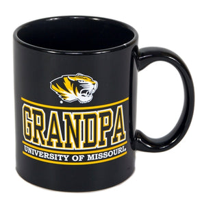 University of Missouri Grandpa Black Ceramic Mug