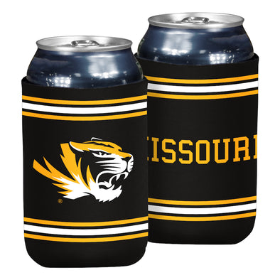 Mizzou Oval Tiger Head Black Flat Can Holder