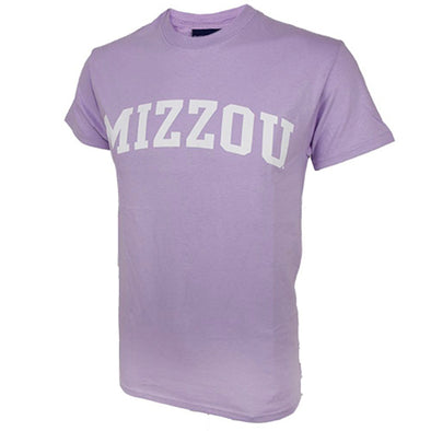 Mizzou Lavender Short Sleeve Crew Neck T-Shirt