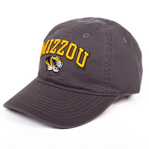Mizzou Tigers Kid's Charcoal Adjustable Hat