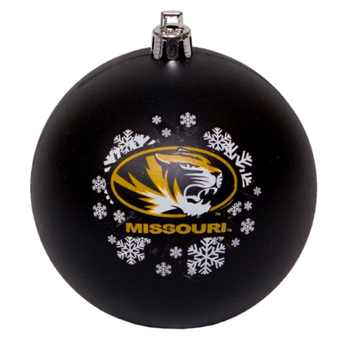 Mizzou Oval Tiger Head Black Ornament