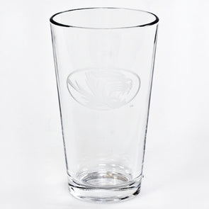 Mizzou Oval Tiger Head Etched 16 oz. Pint Glass