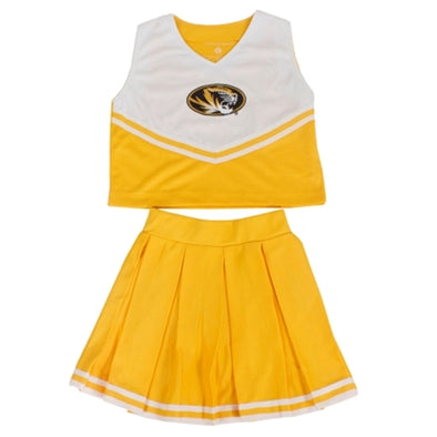 Mizzou Toddler Gold & White 2-Piece Cheerleader Set