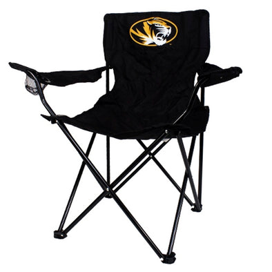 Mizzou Oval Tiger Head Black Quad Tailgate Chair