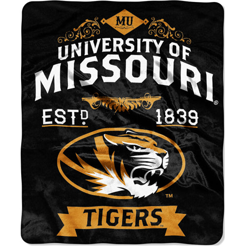 Missouri Tigers Royal Plush Blanket