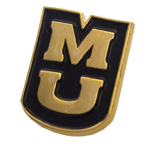 MU Black & Gold Lapel Pin