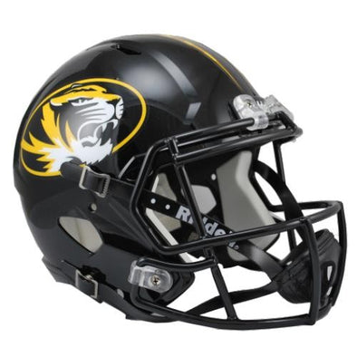 Mizzou Riddell Full Size Oval Tiger Head Replica Football Helmet