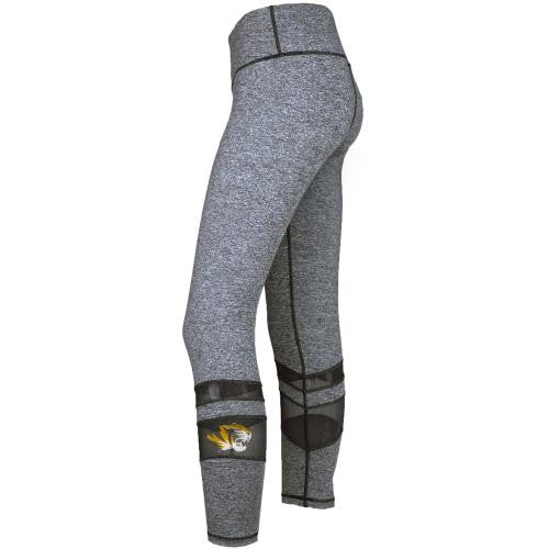 Mizzou Juniors' Tiger Head Grey Leggings