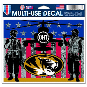 Mizzou Oval Tiger Head OHT Military Decal
