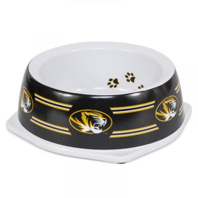 Mizzou Oval Tiger Head Pet Dog Bowl Large