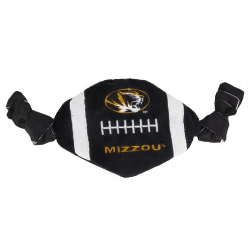 Mizzou Crinkle Football Pet Toy