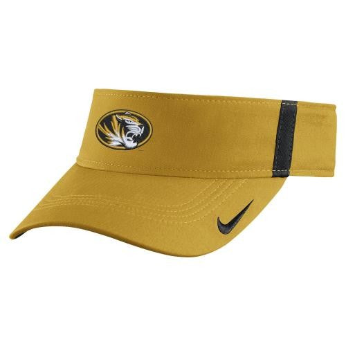 Mizzou Nike® 2017 Gold Sideline Dri-Fit Oval Tiger Head Adjustable Visor