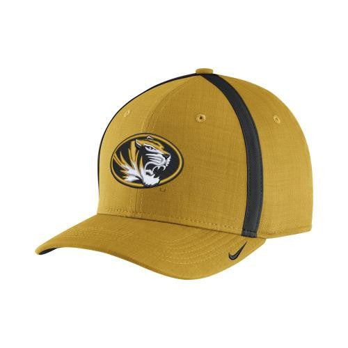 b2d0b158a0d Mizzou Nike® 2017 Coaches Gold Sideline Oval Tiger Head Adjustable ...