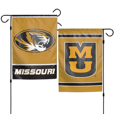 Mizzou Oval Tiger Head 2-Sided Garden Flag