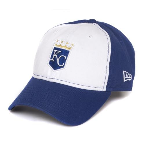 f7d0f013f6a Mizzou MLB KC Royals Crown Logo Blue and White Adjustable Cap ...