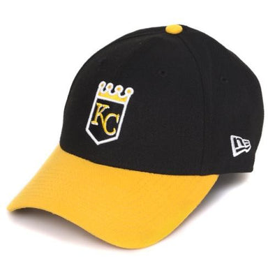 Mizzou MLB KC Royals Crown Logo Black and Gold Adjustable Cap