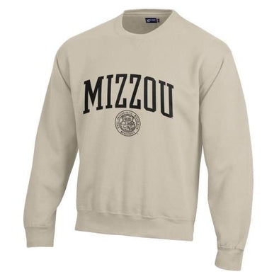 Mizzou Official Seal Off White Crew Neck Sweatshirt