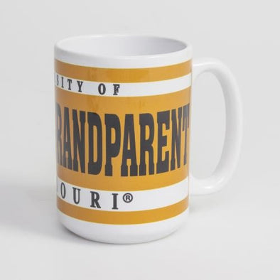 Mizzou Grandparent White & Gold Ceramic Mug