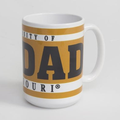 Mizzou Dad White & Gold Ceramic Mug