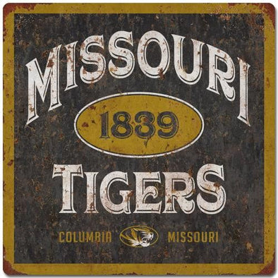 Missouri Tigers 1839 Black & Gold Tin Sign