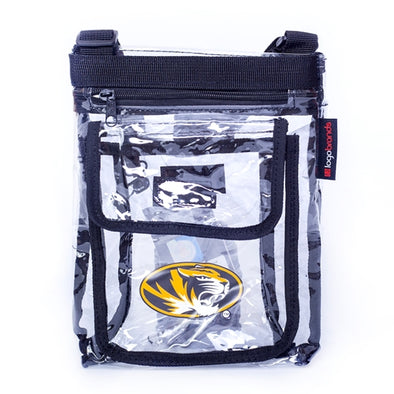 Mizzou Oval Tiger Head Clear Crossbody Bag