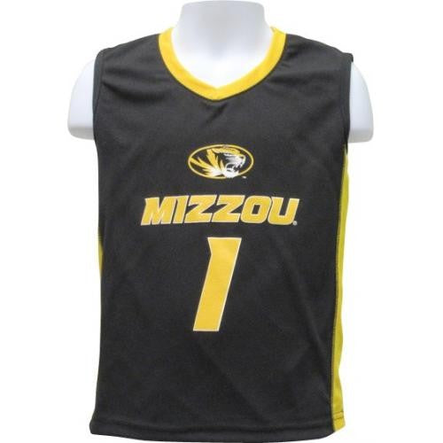 Mizzou Toddler Black & Gold Basketball Jersey