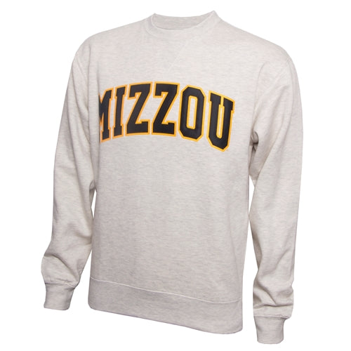 Mizzou Off-White Crew Neck Sweatshirt