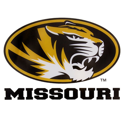 Missouri Oval Tiger Head Decal