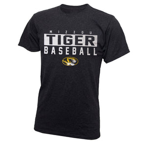 Mizzou Tigers Baseball Charcoal Crew Neck T-Shirt
