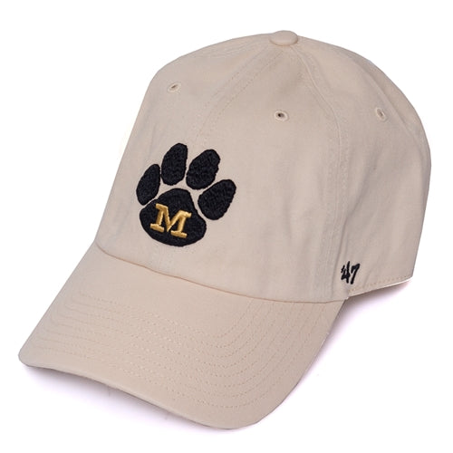 Mizzou Paw Print Cream Adjustable Hat