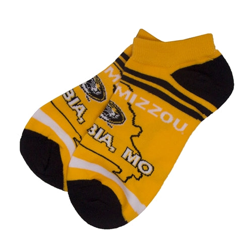Mizzou Columbia, Mo Gold Ankle Socks