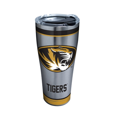 Mizzou Tervis Oval Tiger Head Stainless Steel Tumbler