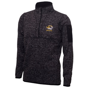 Mizzou Antigua 1/4 Zip Black Sweatshirt