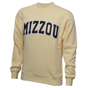 Mizzou Yellow Crew Neck Sweatshirt