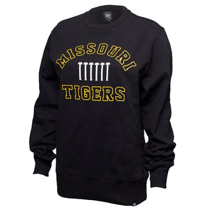 Missouri Tigers Historic Columns Black Crew Neck Sweatshirt