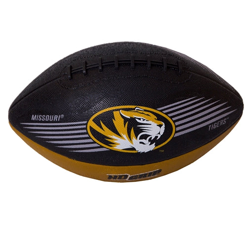 Missouri Tigers Oval Tiger Head Downfeild Youth Black and Gold Football