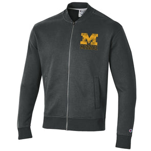 Mizzou Block M Full Zip Charcoal Grey Jacket