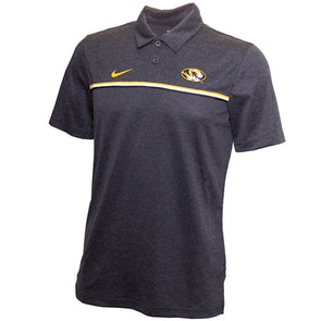 Mizzou Nike® 2020  Oval Tiger Head  Black Stripe Polo