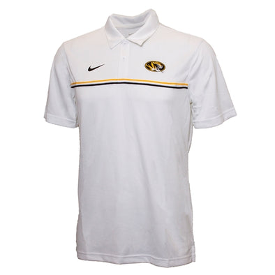 Mizzou Nike® 2020 Oval Tiger Head White Stripe Polo