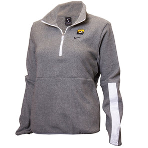 Mizzou  Nike® 2020 1/2 Zip Fleece Oval Tiger Head Junior's Grey Jacket