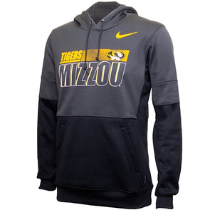 Mizzou Nike®2020 Team Issue Tigers Oval Tiger Head Grey Hoodie