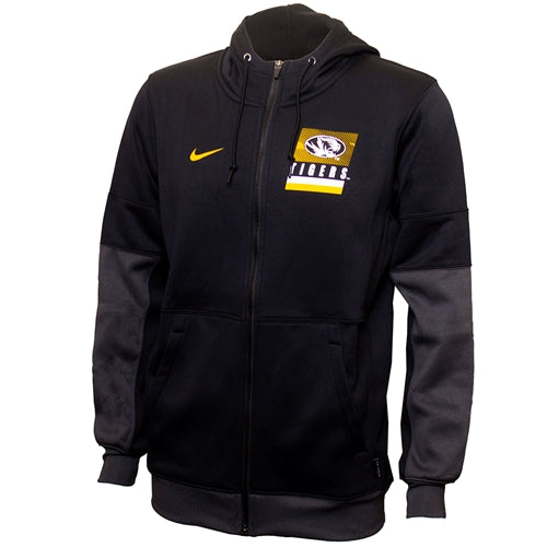 Mizzou Nike®2020 Team Issue Oval Tiger Head Black Full Zip Jacket